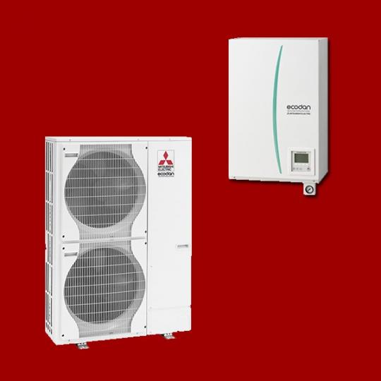 Pompe à Chaleur Air/Eau EHSC-VM2B / PUHZ-SW120VHA MITSUBISHI ELECTRIC