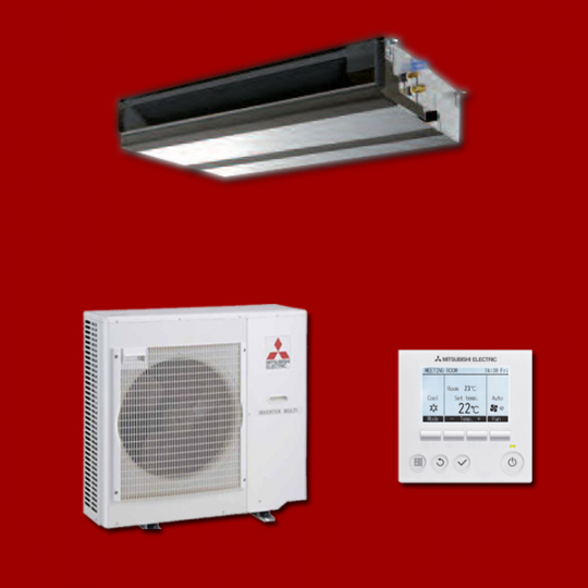 Climatiseur Inverter Gainable PEAD-M100JA / PUHZ-P100VHA3 MITSUBISHI ELECTRIC